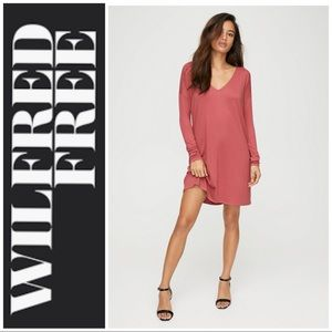 Aritzia Wilfred Free Gail Dress in Red Cotta